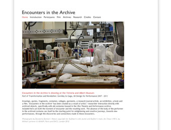 encounters in the archive, 2012
