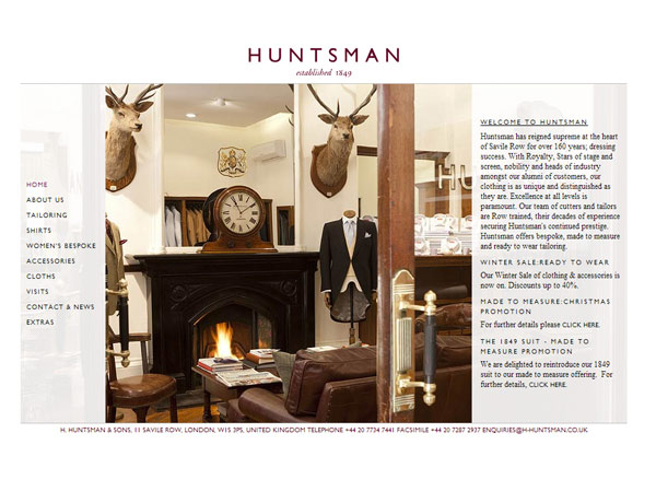 Huntsman website