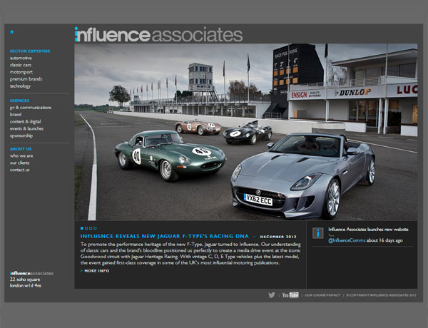 Influence Associates website