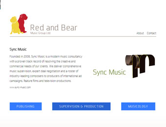 red and bear music services gateway website