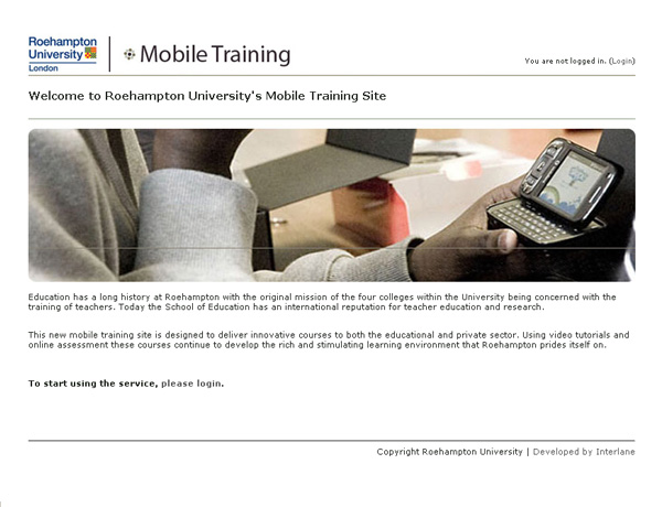 roehampton university online learning, 2008