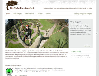 sheffield tree care website, 2013