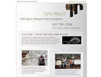 sync music html emails, 2009